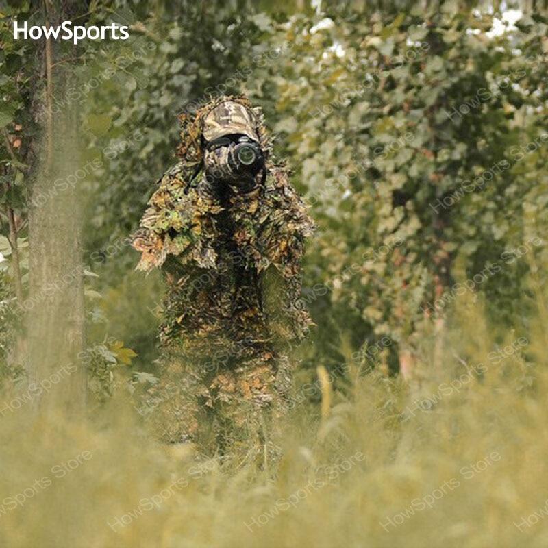 Howsports sniper camouflage grün belaubten jagd ghillie anzüge jagd kleidung birdwatch airsoft mantel hose jagd zubehör