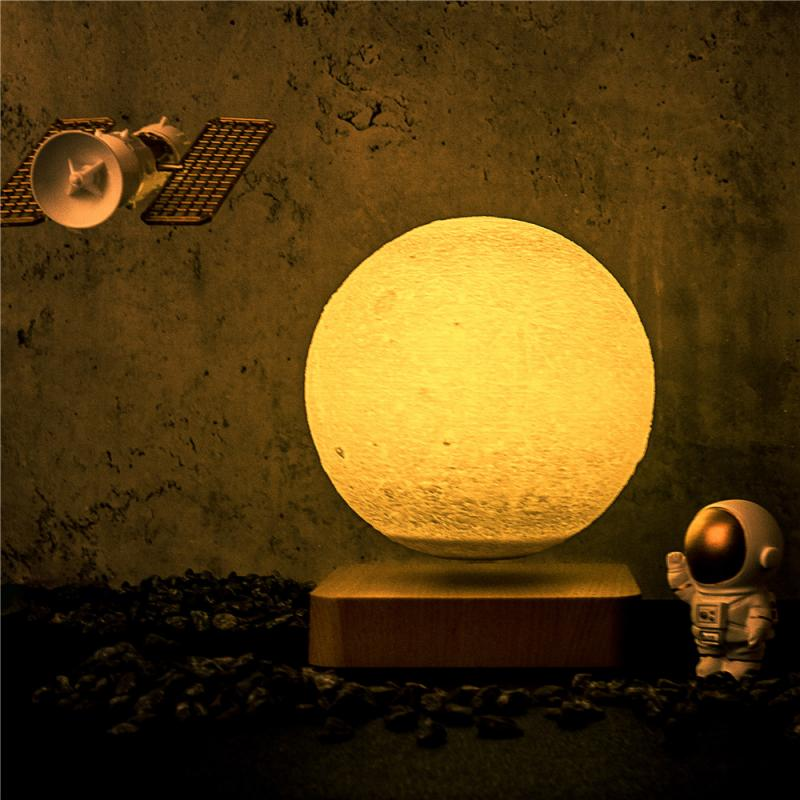 Creative 3D Magnetic Levitation Moon Lamp Night Light Rotating LED Moon Floating Lamp Home Decoration Holiday Ball Night Lights enlarge