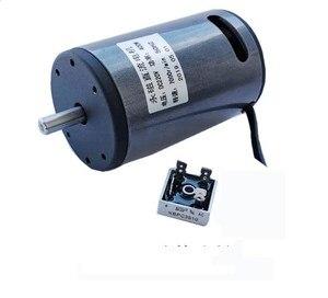 220V permanent magnet DC high-speed motor, silent motor, small motor, speed control motor, forward and reverse motor