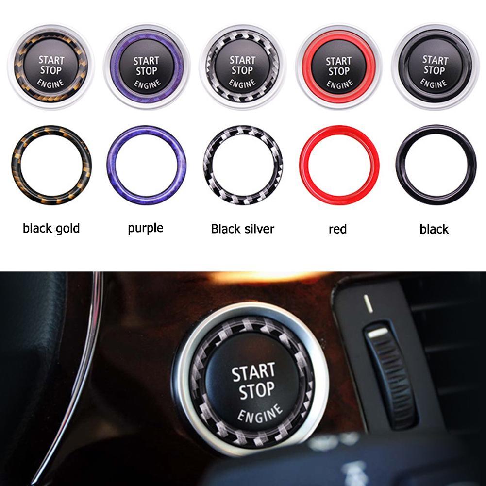 Botão de aciomento de partida automotivo, equipamento de veículo para bmw 1/3/5 série e87 e90 e60 320