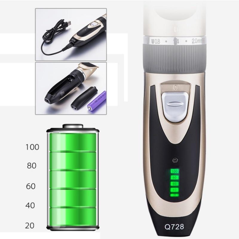 2020 Electric Hair Clipper Rechargeable Low Noise Hair Trimmer Hair Cutting Machine Beard Shaver Trimer For Men Hair Shavin enlarge