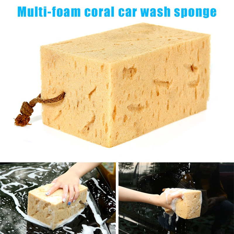 Newly Car Washing Sponge Cleaning Car Care Soft Tool Washable Reuseble Remove Dirt CLA88