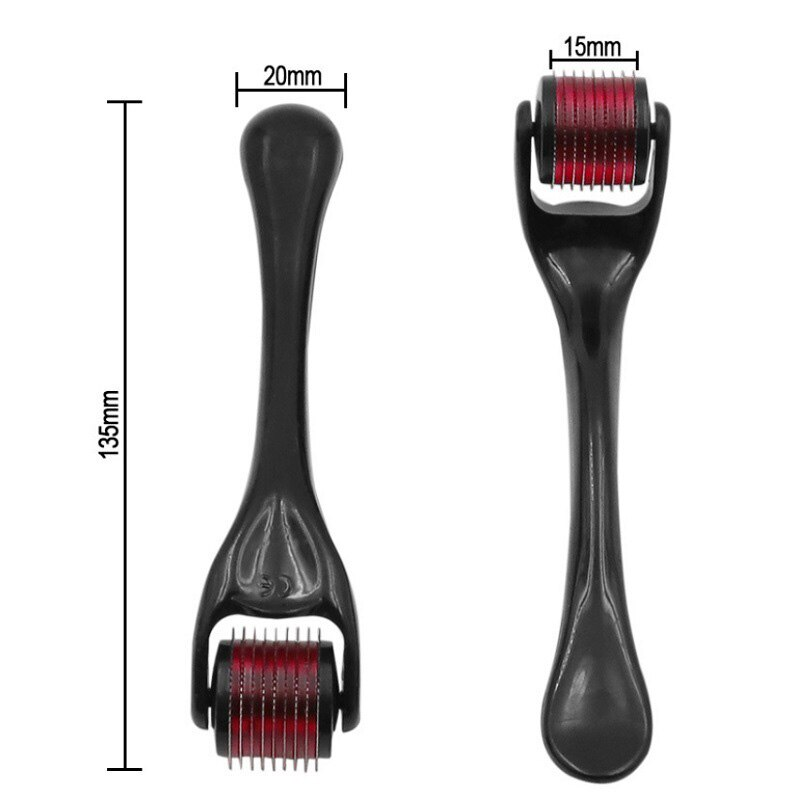 540 Beard Derma Roller Titanium For Hair Growth Mesoroller For Face Machine Skin Care Microniddle Needle Roller Care Beauty