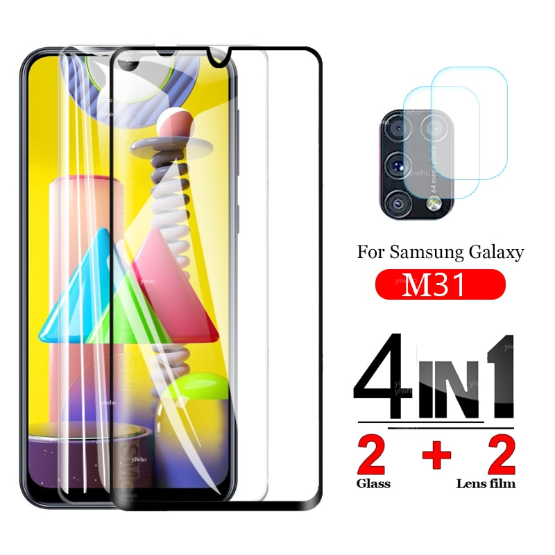 Фото - Закаленное стекло для Samsung m31, защита экрана, Защитное стекло для Galaxy m31, Защитное стекло для объектива камеры samsungM315F, пленка защитное стекло