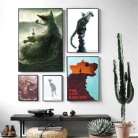 the last guardian hand painted vintage poster prints oil painting on canvas wall art murals pictures for living room decoration