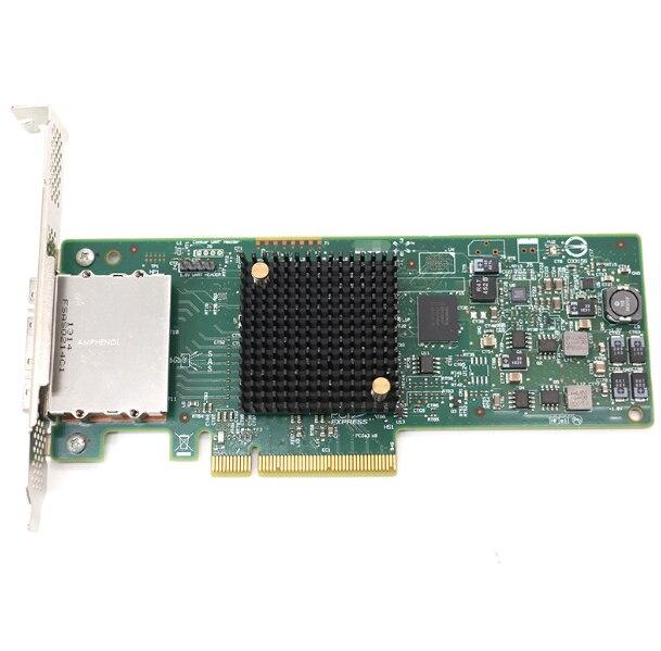 Unidade/unidade de terceiros nova marca lsi 9207-8e 6 g/s cartão controlador host sas/sata tarjeta de controle pcie3.0 x8 chipset