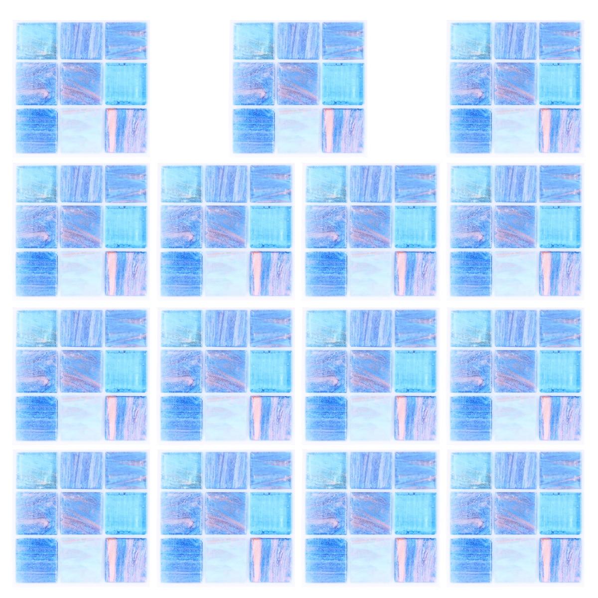 15 unidades de pegatinas de pared 3D autoadhesivas negro gris cristal mosaico patrón de pared a prueba de agua pegatinas de pared Anti-aceite para el hogar