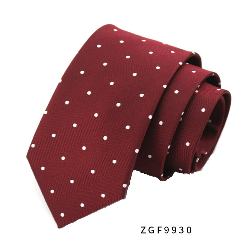 High Quality 2019 New Designers Brands Fashion Business Casual 8cm Slim Ties for Men Necktie Wine Red Wedding with Gift Box