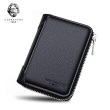 LAORENTOU marque homme en cuir véritable ID Case porte-carte daffaires mâle petit permis de conduire étui de haute qualité poche à monnaie
