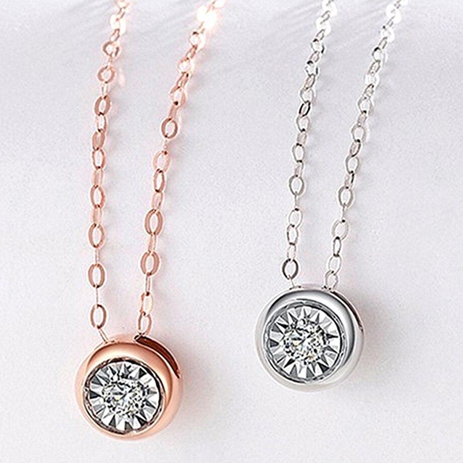 NYMPH ريال 18K الذهب قلادة الماس قلادة نقية AU750 سلسلة فاخرة الماس الطبيعي للنساء الزفاف غرامة مجوهرات هدية X537