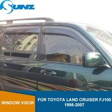 Car window rain protector For Toyota Land Cruiser LC100 /FJ100/ LX470 1998 1999 2000 2001 2002 2003 2004 2005 2006 2007 SUNZ
