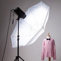 Зонтик Мягкий 33 дюйма 83 см для фотостудии, аксессуары для видеосъемки, профессиональная вспышка, полупрозрачный белый