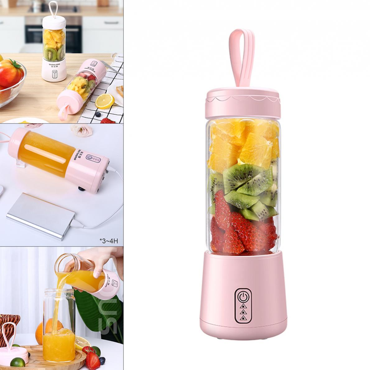 Juicer Cup 6 Blades Portable Blender  Fruit Shakes Smoothie Mixer with 2600mAh Rechargeable Battery for Home Office Travel