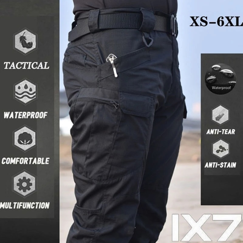 SizeS-6XL Men Tactical Cargo Pants Army Outdoor Hiking Trekking Casual Sweatpants Camouflage Military Multi pocket Trousers