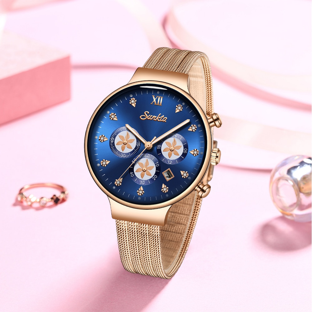 SUNKTA NEW Fashion Watches For Women's Brand Luxury Ladies Watch Diamond Women Waterproof Watches Gifts Wristwatch Montre Femme enlarge