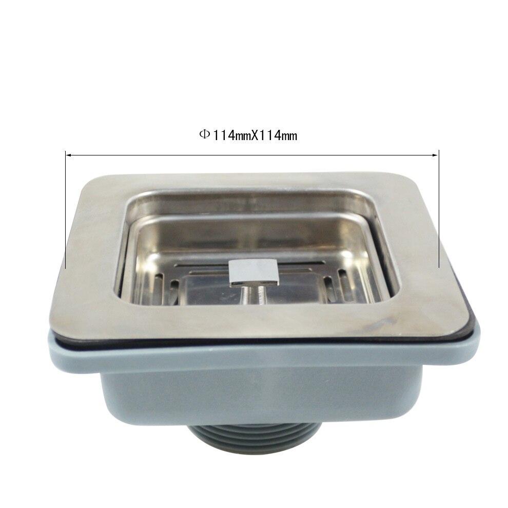 MTTUZK بالوعة المطبخ تجفيف 114 مللي متر x 114 مللي متر مربع 304 الفولاذ المقاوم للصدأ تجفيف ل بالوعة تصفية استنزاف رفع استنزاف MT268