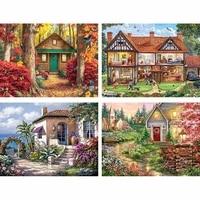 Peinture de diamant de cabine romantique de paysage  perceuse complete 5d a faire soi-meme  plante en fleurs  decoration douce pour la maison  cadeau pour enfants  Y47