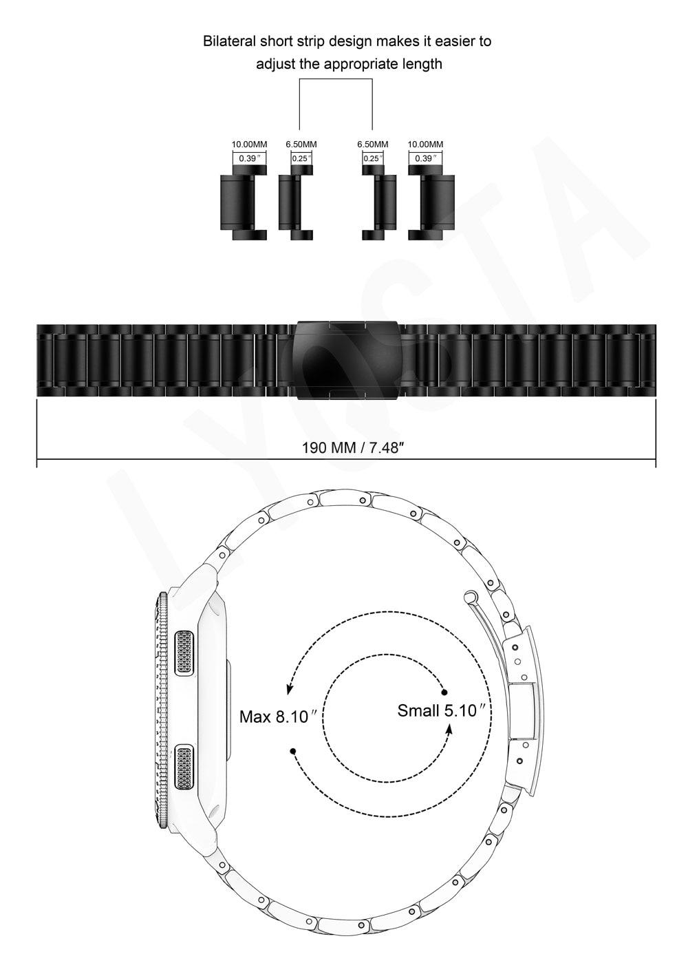 2 47mm pulseira 22mm cinta relógio mágico 2 46mm vivoactive4 4