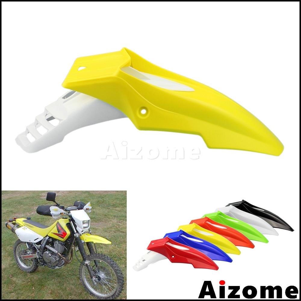 Universal Yellow Black Spermoto Front Fender Mudguard For Suzuki DR DRZ RM RMZ 250 400 450 650 Dual Sport Motocross Mud Guard