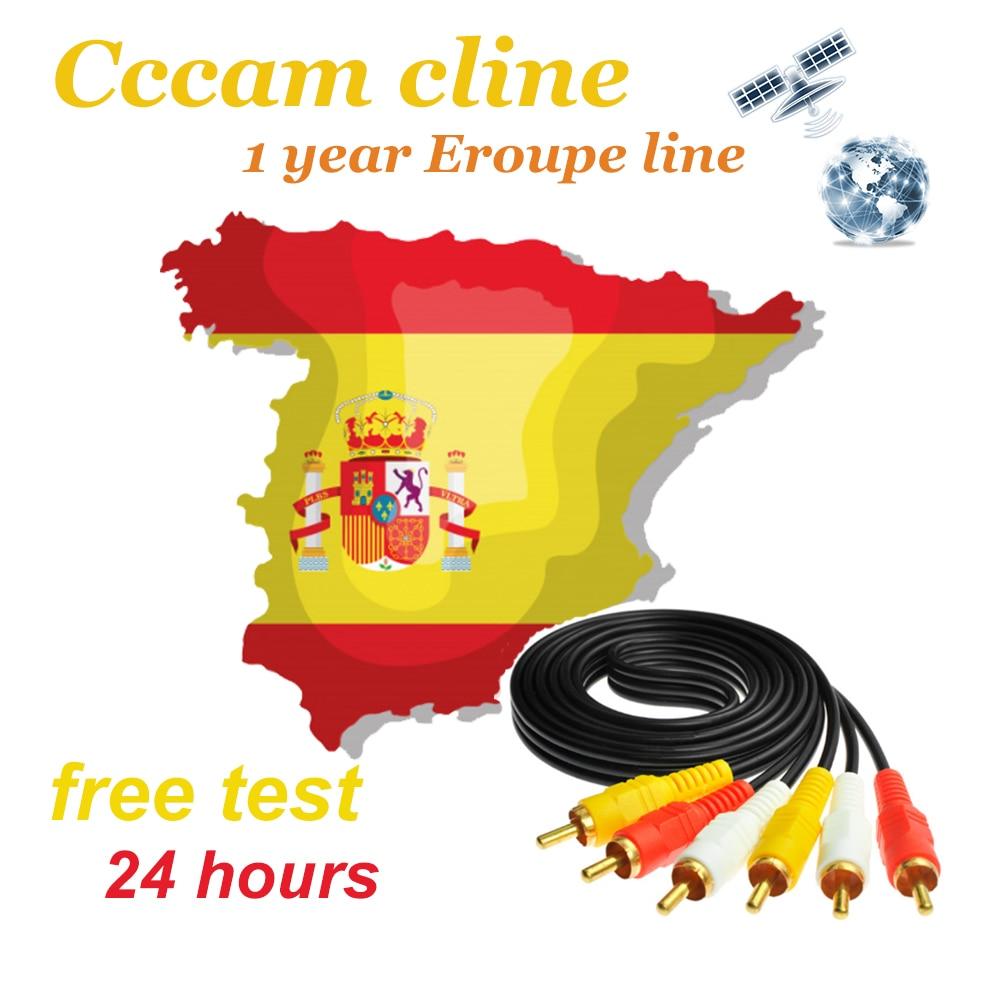 2020 Cccam cline spain 1 Year 7 lines Europe Support DVB-S2 Satellite TV Receiver GT MEDIA V8 NOVA c-line server control panel