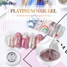 Pinpai Platin Gel Nagellack UV LED Super Glitter Hybrid Nagel Gel Lack DIY Maniküre Tränken Weg Nail art Malerei gel Lack