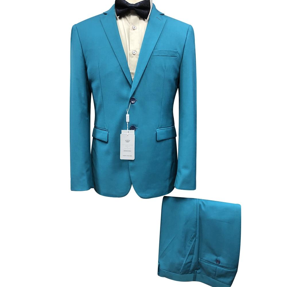 الأزرق الملكي نحيل الرجال دعوى قطعتين التدخين سترة السراويل الرسمية الذكور السترة الأعمال مكتب أوم زي النمط الكلاسيكي