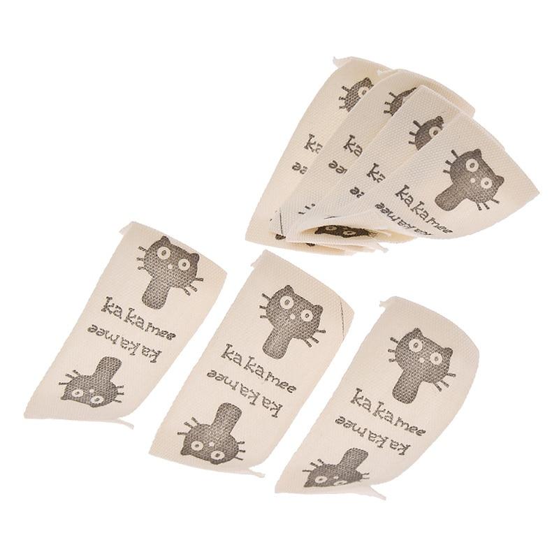 Patrón de dibujos animados, 50 Uds., manualidades acolchadas, Etiquetas de ropa para niños DIY, suministros de ropa hechos a mano, etiquetas de tela lavables