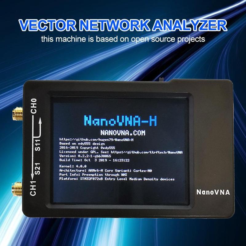 2019 Nano VNA-H 50 KHz-900 MHz red vectorial MF HF VHF UHF Antena Digital analizador Digital de onda corta medidor probador