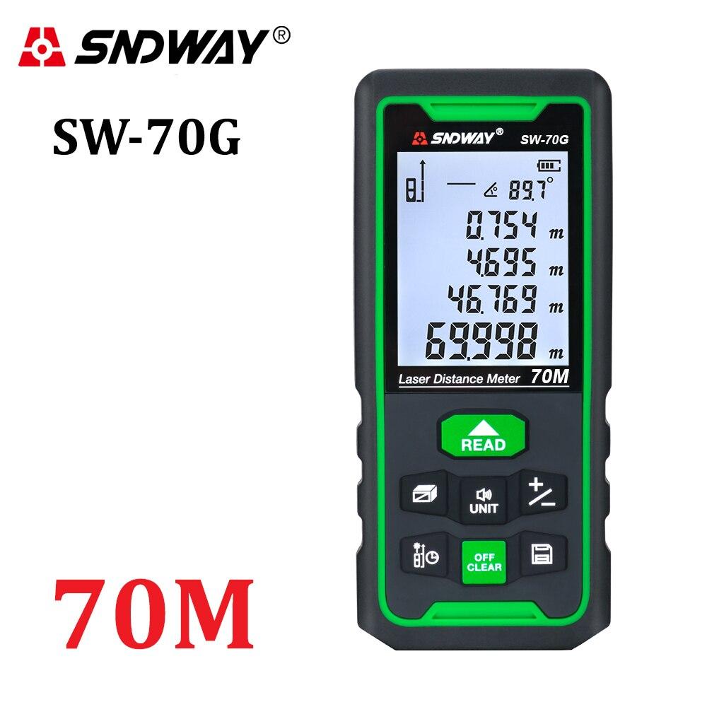 SNDWAY Laser Distance Meter Digital Range Finder 100m 70m 50m Rangefinder Trena Lazer Tape Measure Ruler Roulette Measurer Tool