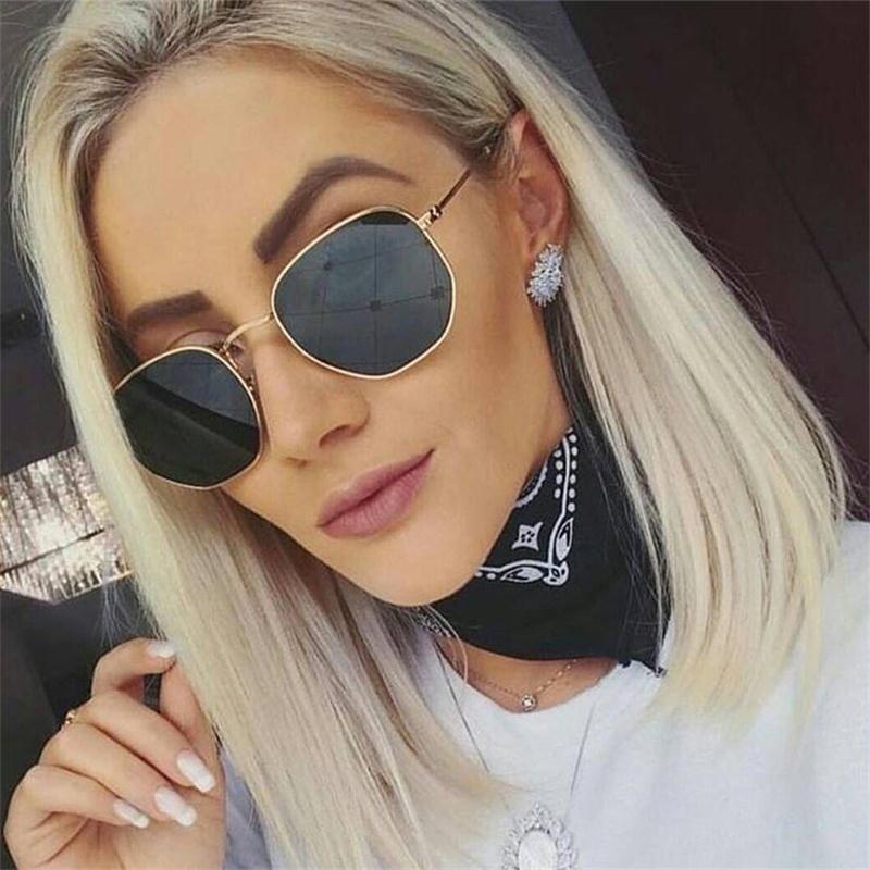 Tidal fashion classic style metal personality sunglasses cold retro glasses women round frame glasse