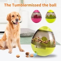 pet tumbler toy interactive dog cat food treat ball bowl toys funny pet shaking leakage food container puppy cat slow feed bowl