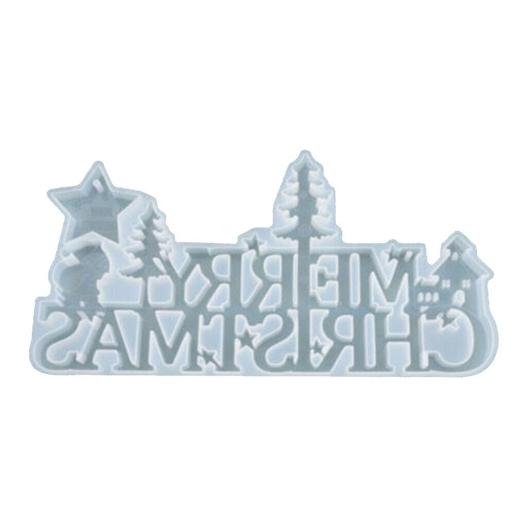 Frohe Weihnachten Silikon Schmuck Casting Mold Harz Epoxy Mould Decor Craft Tool Handmade hohe qualität silikon form mode