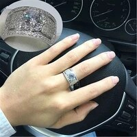 2020 new bohemian crystal large womens inlaid color rhinestone fashion ring wedding engagement party accessories size 711