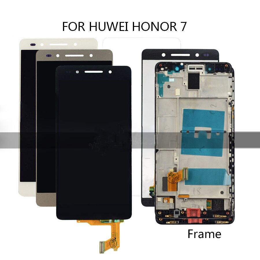 Pantalla LCD para Huawei Honor 7 digitalizador táctil LCD pantalla montaje Marco de repuesto