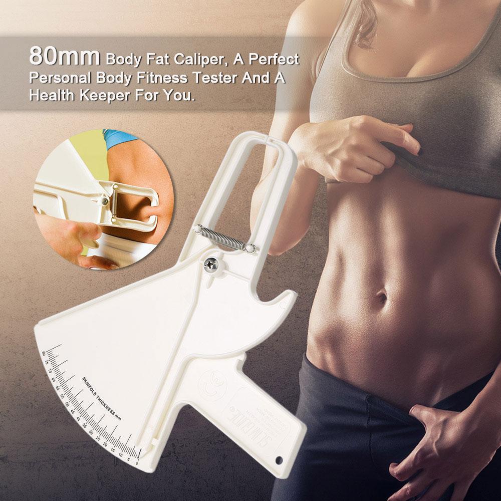 FDBRO Large Sebum Forceps Personal Train Body Fat Clips Fat Caliper Skin Pleat Thickness Gauge Measurement Clip Gym Accessories