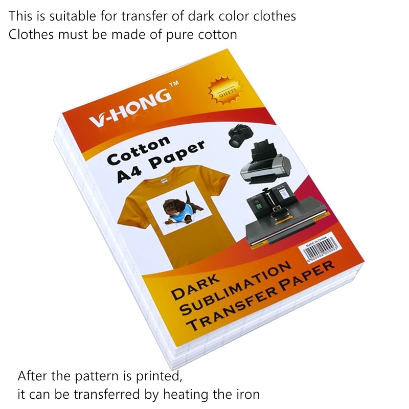 1000Sheets A4 cotton paper T-shirt sublimation paper Hot stamping can be washed by high temperature heat transfer paper