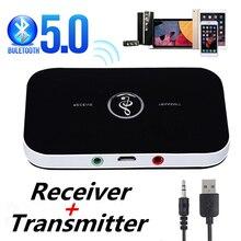 2020 Bluetooth 5.0 nadajnik i odbiornik Audio 3.5mm 3.5 AUX muzyka Stereo Adapter bezprzewodowy klucz dla PC TV słuchawki głośnik samochodowy
