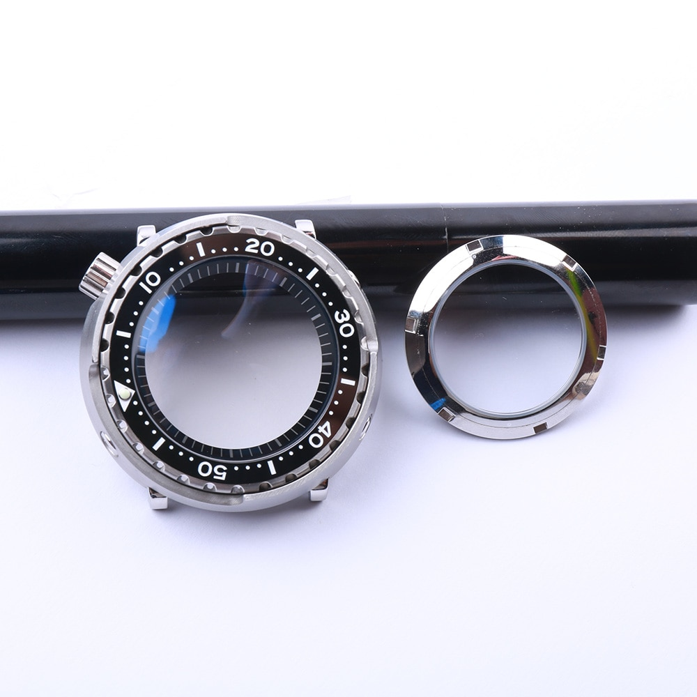 Stainless Steel Mod 20ATM Water Proof Tuna Dive Watch Case Fit For SeikoNH35 NH36 Movement Ceramic Bezel insert Man Watch Repair enlarge