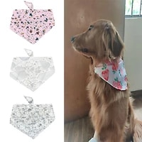 brand new gravel printed pet headscarf adjustable pet cat and dog scarf saliva triangle scarf tie bib headscarf pet supplies