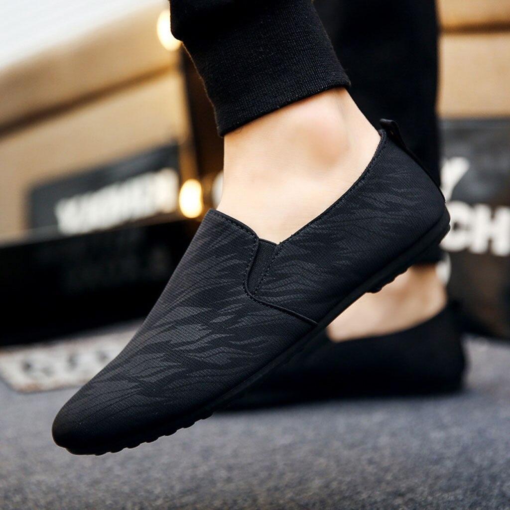 Mocassins 2019 primavera verão sapatos masculinos sapatos casuais luz lona juventude respirável moda calçado plano