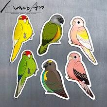 Cartoon wall stickers for kids rooms room decoration bedroom decor Parrot home decoration Animal bird diy art