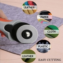 45mm Round Cloth Knife Spare Blades Fit Olfa Dafa Fiskars Rotary Cutter Fabric Paper Circular Cutting Patchwork Craft Leather