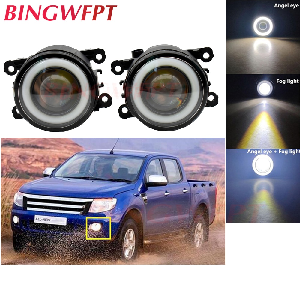 2x para Ford Ranger Ford 2005, 2006, 2007, 2008, 2009, 2010, 2011, 2012, 2013, 2014, 2015 accesorios H11 LED Luz de niebla con ojo de Ángel