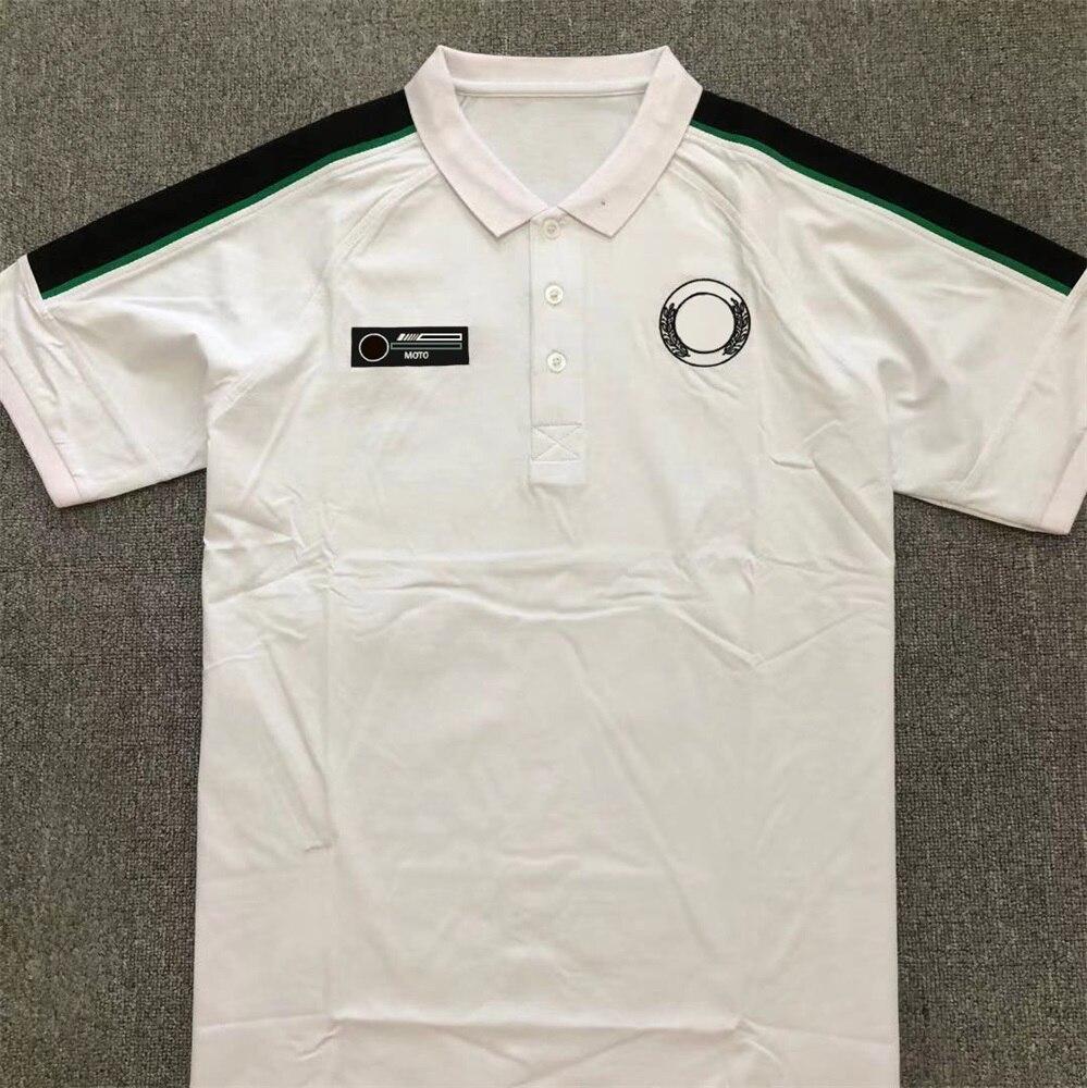 F1 команда рубашки поло команда униформа Формула 1 футболки с коротким рукавом быстросохнущие костюмы Индивидуальные стильные рубашки поло