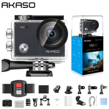 AKASO V50X WiFi Action Camera Native 4K30fps Sport Camera with EIS Touch Screen Adjustable View Angl