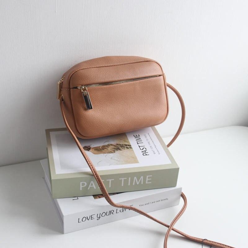 SIKU-حقيبة كتف من الجلد الطبيعي للنساء ، حقيبة ذات علامة تجارية