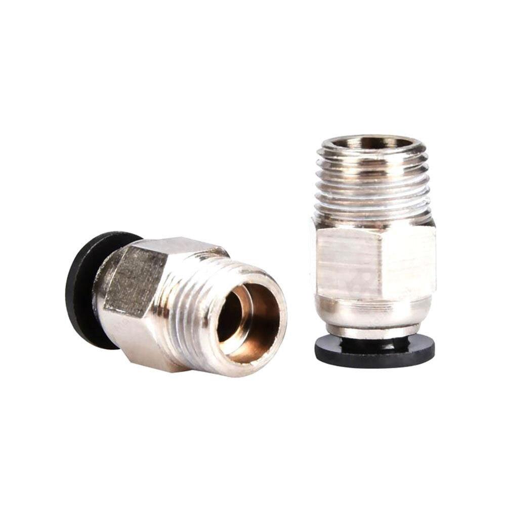 Conectores neumáticos PC4-01 remoto para V6 V5 j-head Bowden tubo de PTFE de 1,75mm piezas de impresora 3D acoplador rápido accesorios de salida Hotend parte