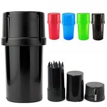 Molinillo de plástico de 4 colores, triturador de hierbas de tabaco de 40mm de diámetro, caja de almacenamiento, accesorios para cigarrillos, 1 ud.