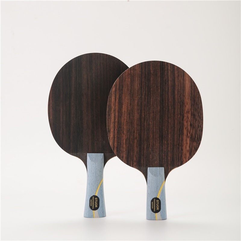 Raqueta de tenis de mesa de estructura de W968-5 5 capas de madera más 2 capas arilato de carbono interno de ping pong murciélagos para raqueta de tenis de mesa