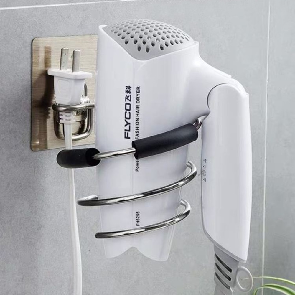 New Hair Dryer Holder Rack Barber Salon Styling Storage Straighteners Organizer Hairdryer Stainless